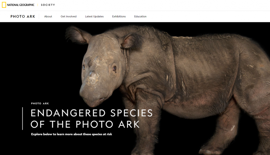 National Geographic Photo Ark Website